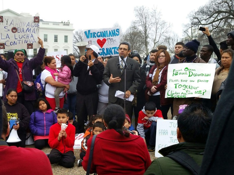 Protest against deportation in Washington D.C. (Photo by Kathryn Johnson)
