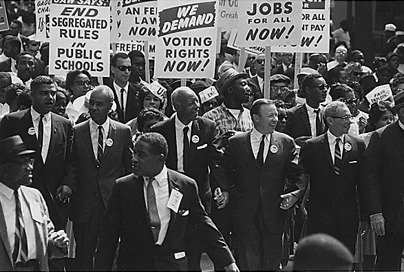Reuther joins the March on Washington in 1963. Photo: Public domain