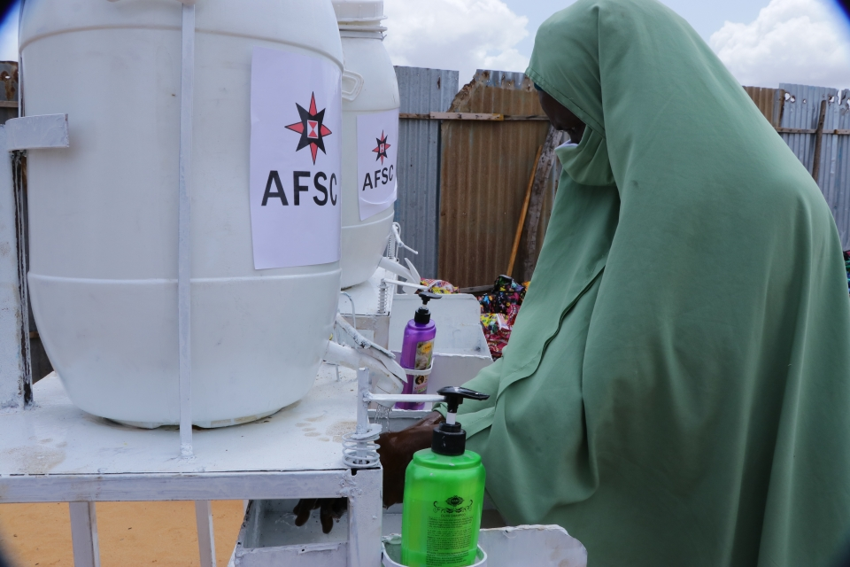 Handwashing stations. Photo: AFSC/Somalia