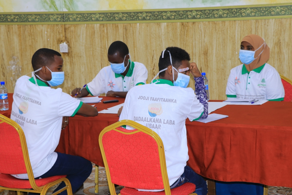 Youth take part in a training to educate community members about COVID-19. Photo: AFSC/Somalia