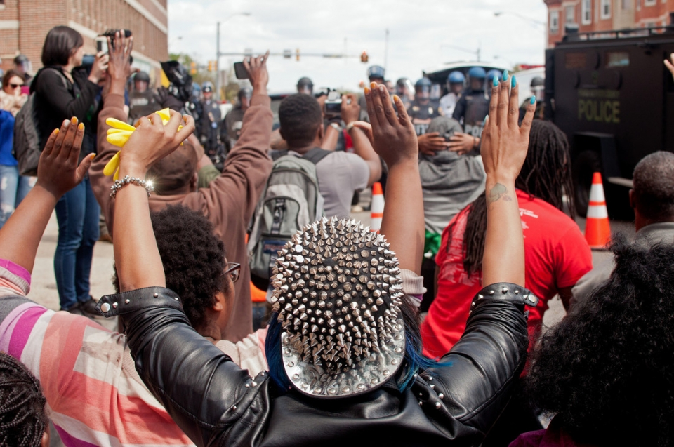 Justice for Freddie Gray march in Baltimore. Photo: AFSC/Bryan Vana