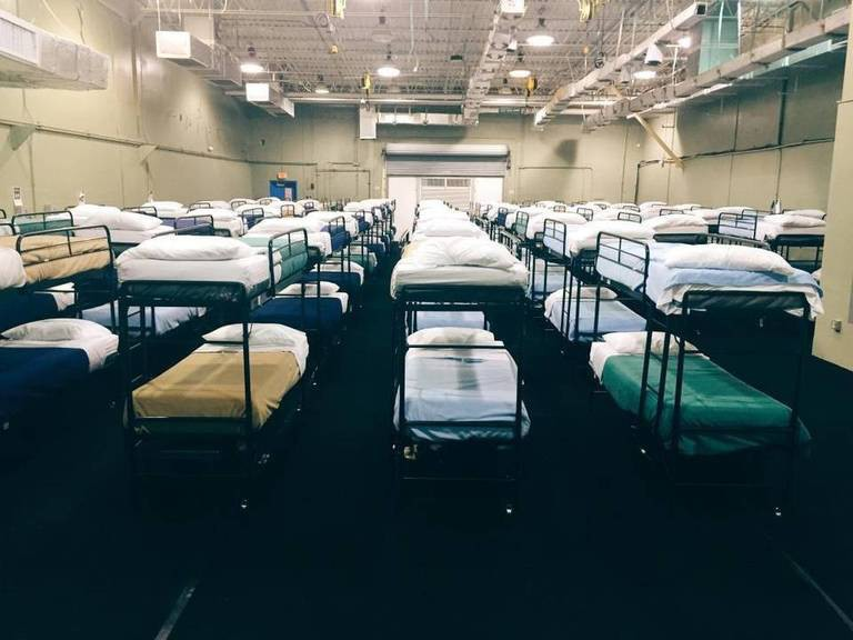 At Homestead, children slept in military-like dorms that could hold up to 250 people. Photo: Department of Health and Human Services