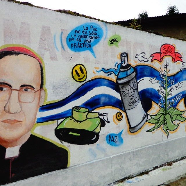 LPN members completed this mural to commemorate the International Day of Peace in 2014. Photo: AFSC/El Salvador