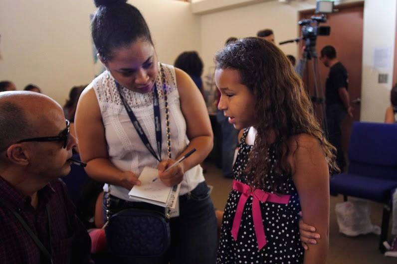Miami students speak out against immigrant detention at a press conference in Florida. Photo: AFSC/Florida