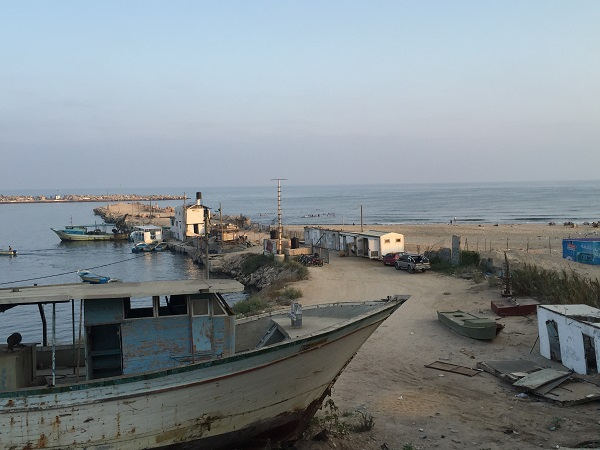 Gaza beach where the Bakr boys were killed