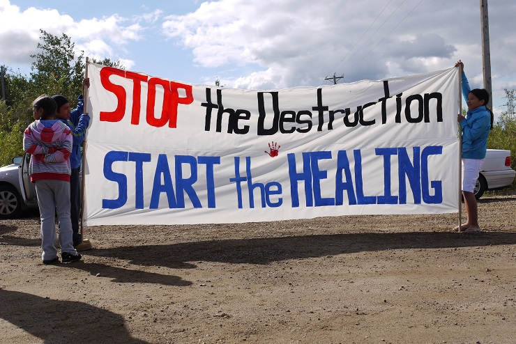 Alberta Tar Sands Protest, Healing Walk by Velcrow Ripper // CC Flickr License