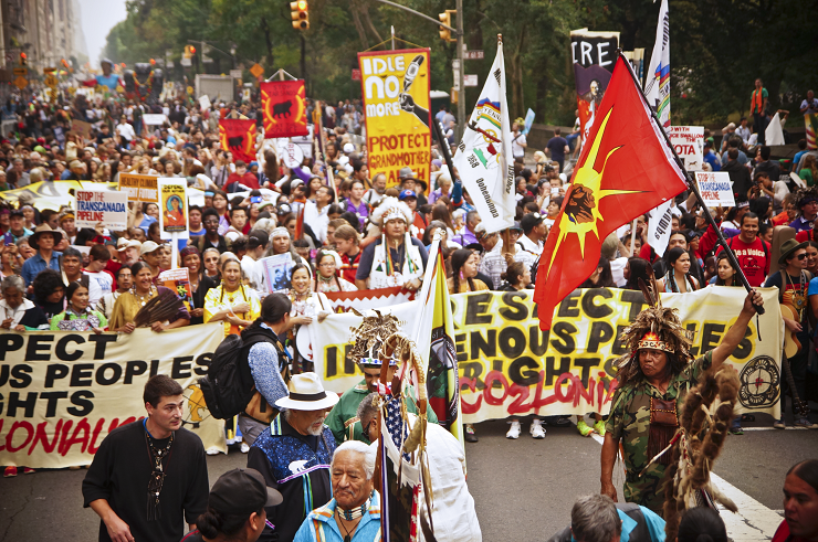 Indigenous Marchers by Joe Brusky // CC Flickr License