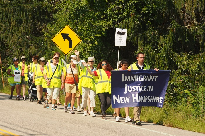 March for Immigrant Justice in New Hampshire. Photo: Arnie Alpert/AFSC