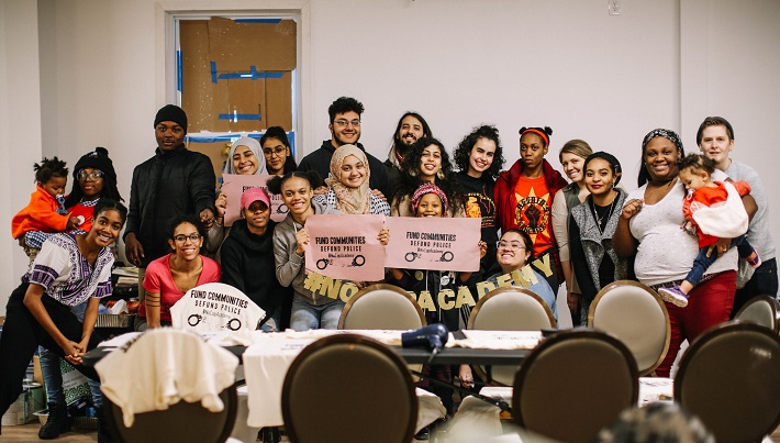 #NoCopAcademy youth art party Photo by Kiran Misra